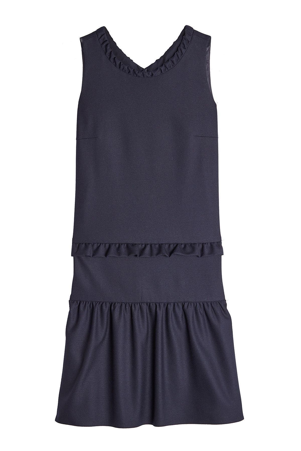 Hugo Kemine Dress With Ruffles In Blue