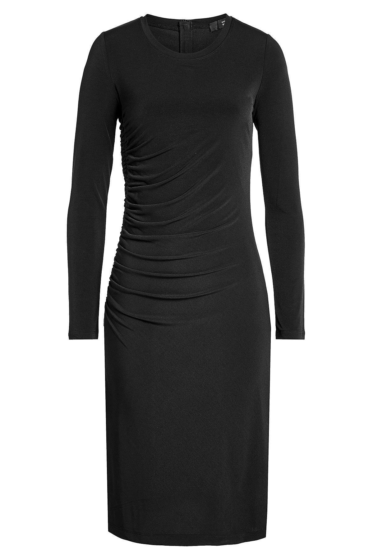 Steffen Schraut Draped Jersey Dress In Black