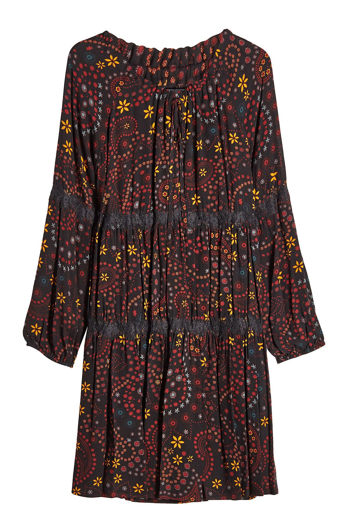 Steffen Schraut Printed Dress With Lace In Multicolored