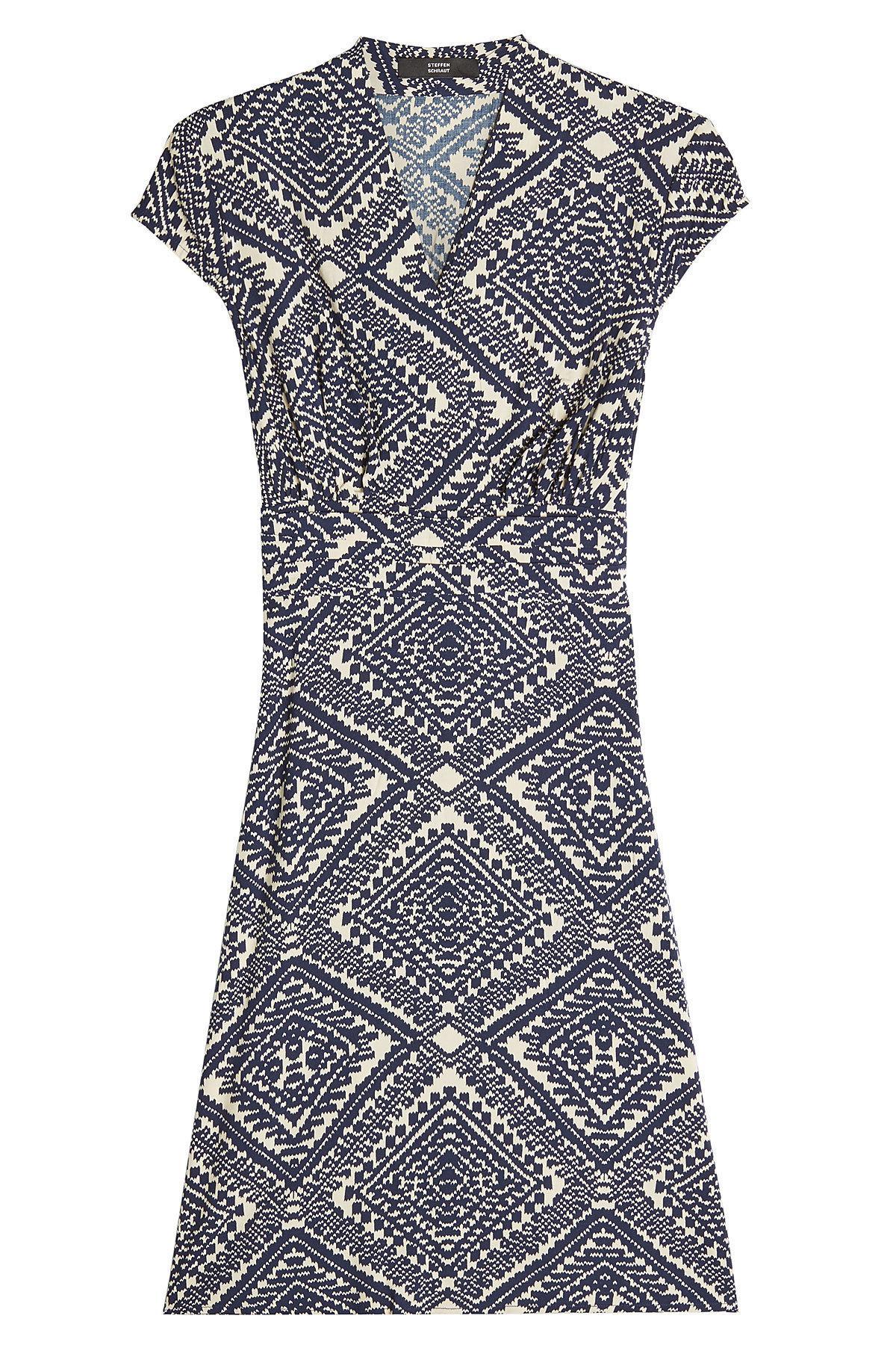 Steffen Schraut Printed Dress In Blue