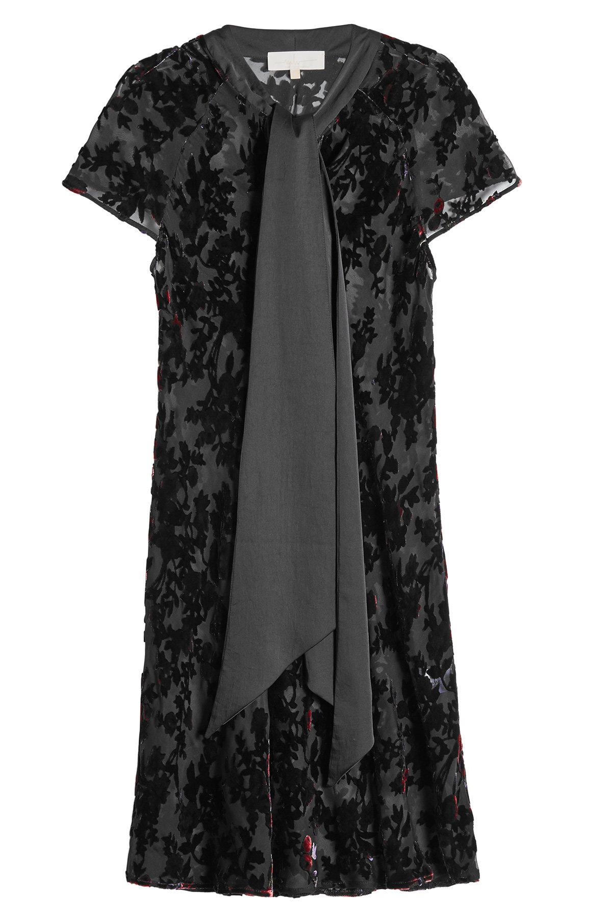 Marina Hoermanseder Dress With Silk And Velvet In Florals