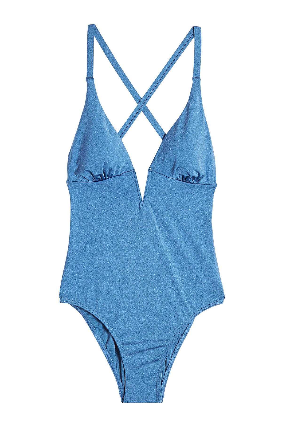 Heidi Klum Swimsuit In Blue