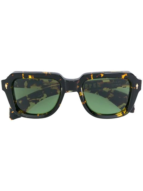 Jacques Marie Mage Taos Square-frame Tortoiseshell Acetate Sunglasses In Brown