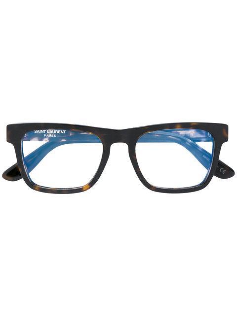 Saint Laurent Eyewear Slm12 002 Glasses - Brown