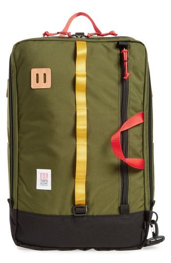 Topo Designs Travel Backpack - Green In Olive