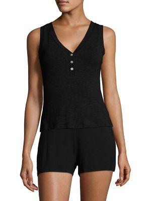 Saks Fifth Avenue Collection Maddie Heathered Camisole In Black