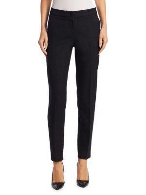 Armani Jeans Wool Slim Trouser In Black