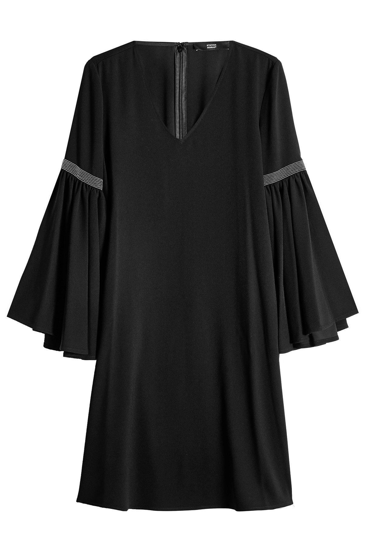Steffen Schraut Crepe Dress With Embellishment In Black