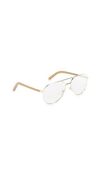 Super Sunglasses Numero 34 Glasses In Gold/clear