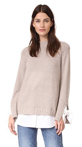 Brochu Walker Remi Layered Pullover In Jute