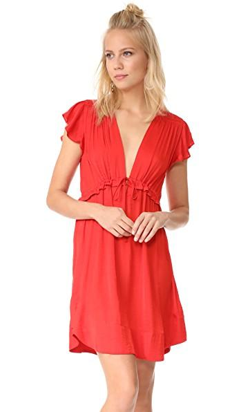 Dra Nectar Dress In Coral Reef