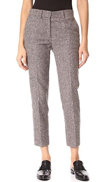 Otto D'ame Royal Tweed Trousers In Cipria