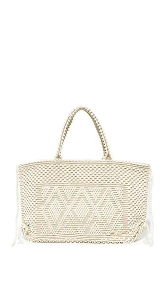 Antonello Capriccioli Tote In Cream/walnut