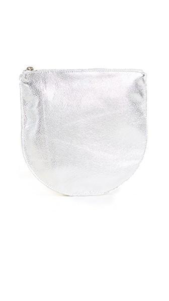 Baggu Large U Pouch In Silver