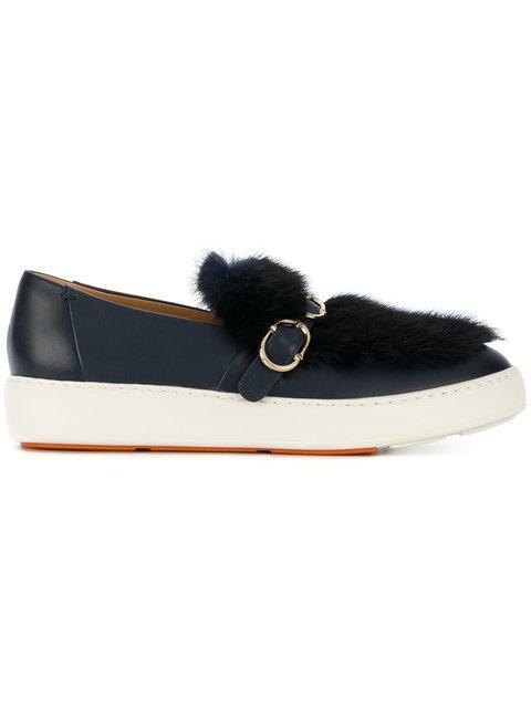 Santoni Buckle Slip-on Sneakers - Blue