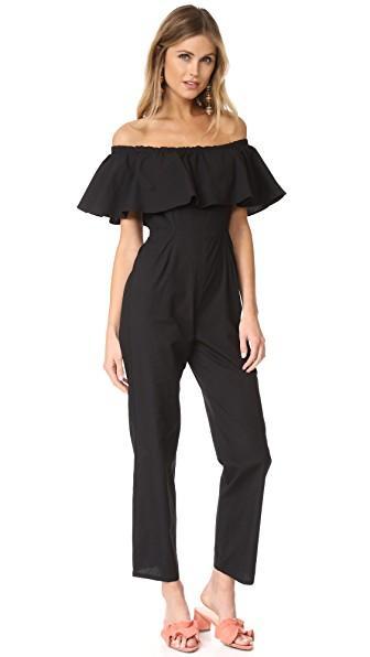 Samantha Pleet Primrose Jumpsuit In Black