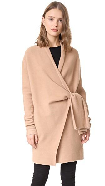 Brochu Walker Savannah Wrap Coat In Camello