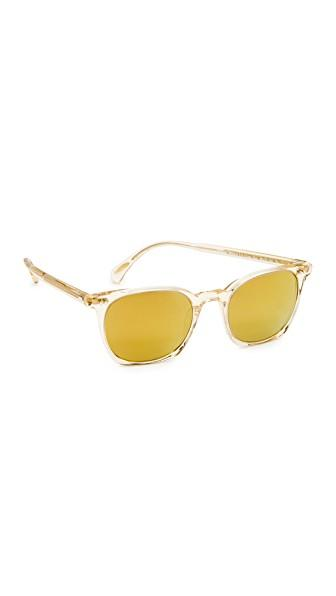Oliver Peoples La Coen Sunglasses In Buff/amber Goldtone