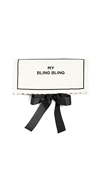 Bag-all My Bling Bling Jewelry Roll In Natural/black