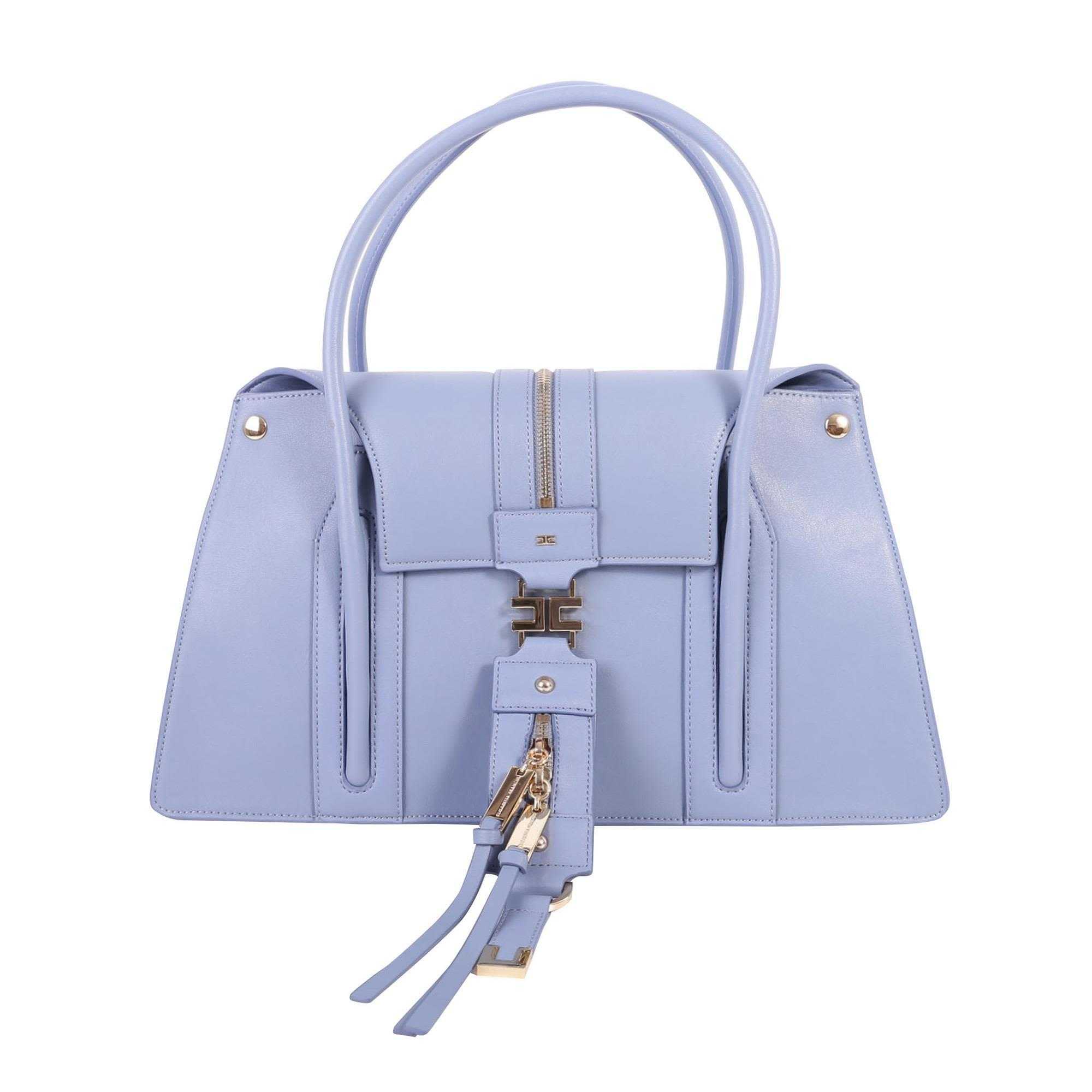 Elisabetta Franchi Celyn B. Top Handle Bag In Smoky Blue