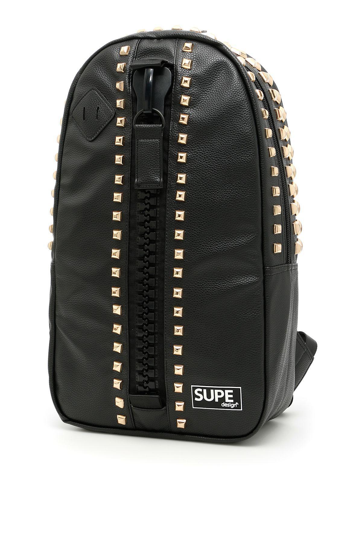 Supe Design Day Bag Rock Backpack In Blacknero