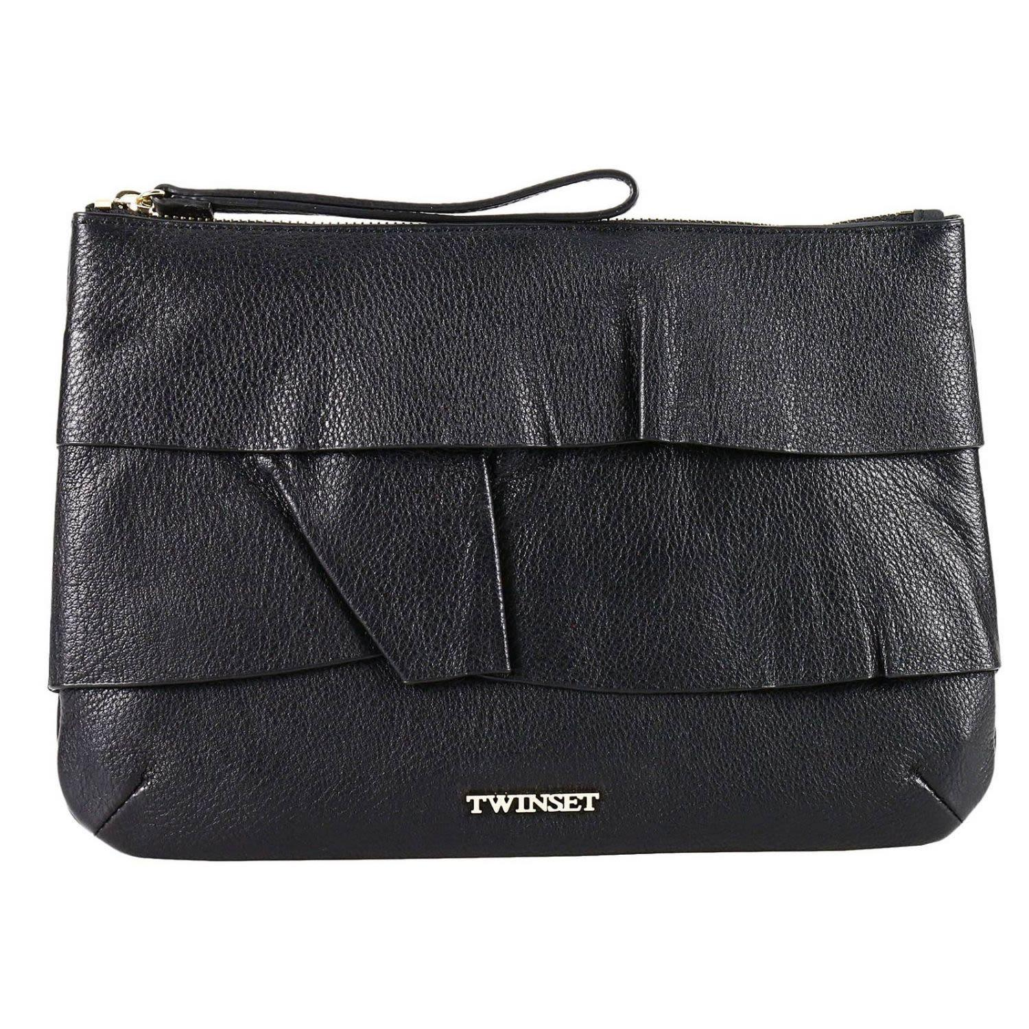 Twinset Clutch Shoulder Bag Women Twin Set In Black