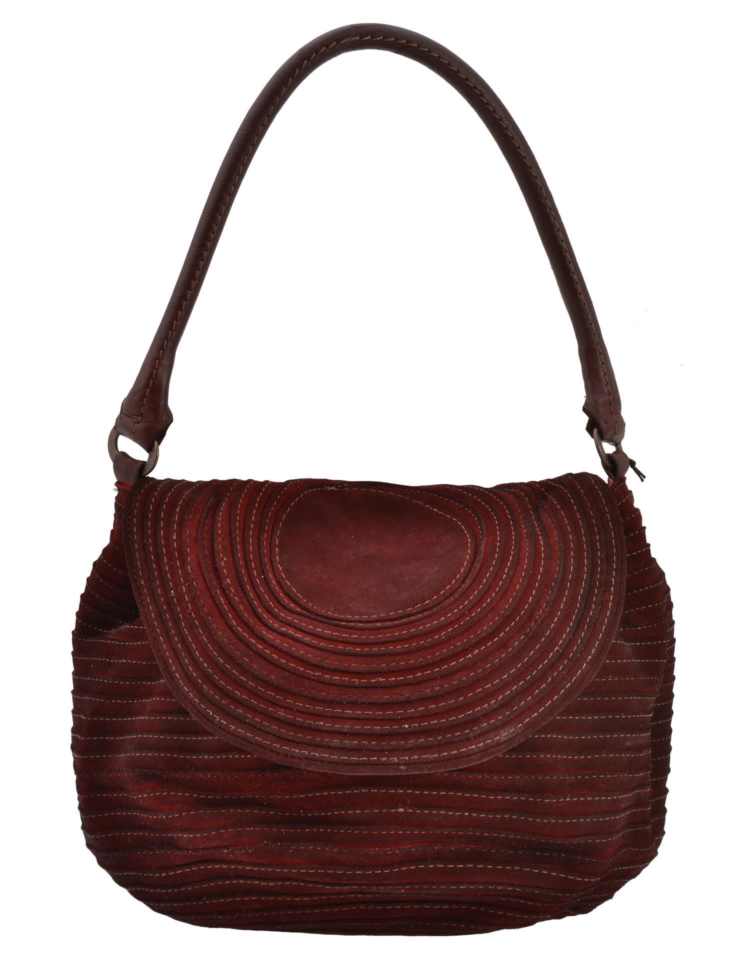Majo Leather Bag In Red