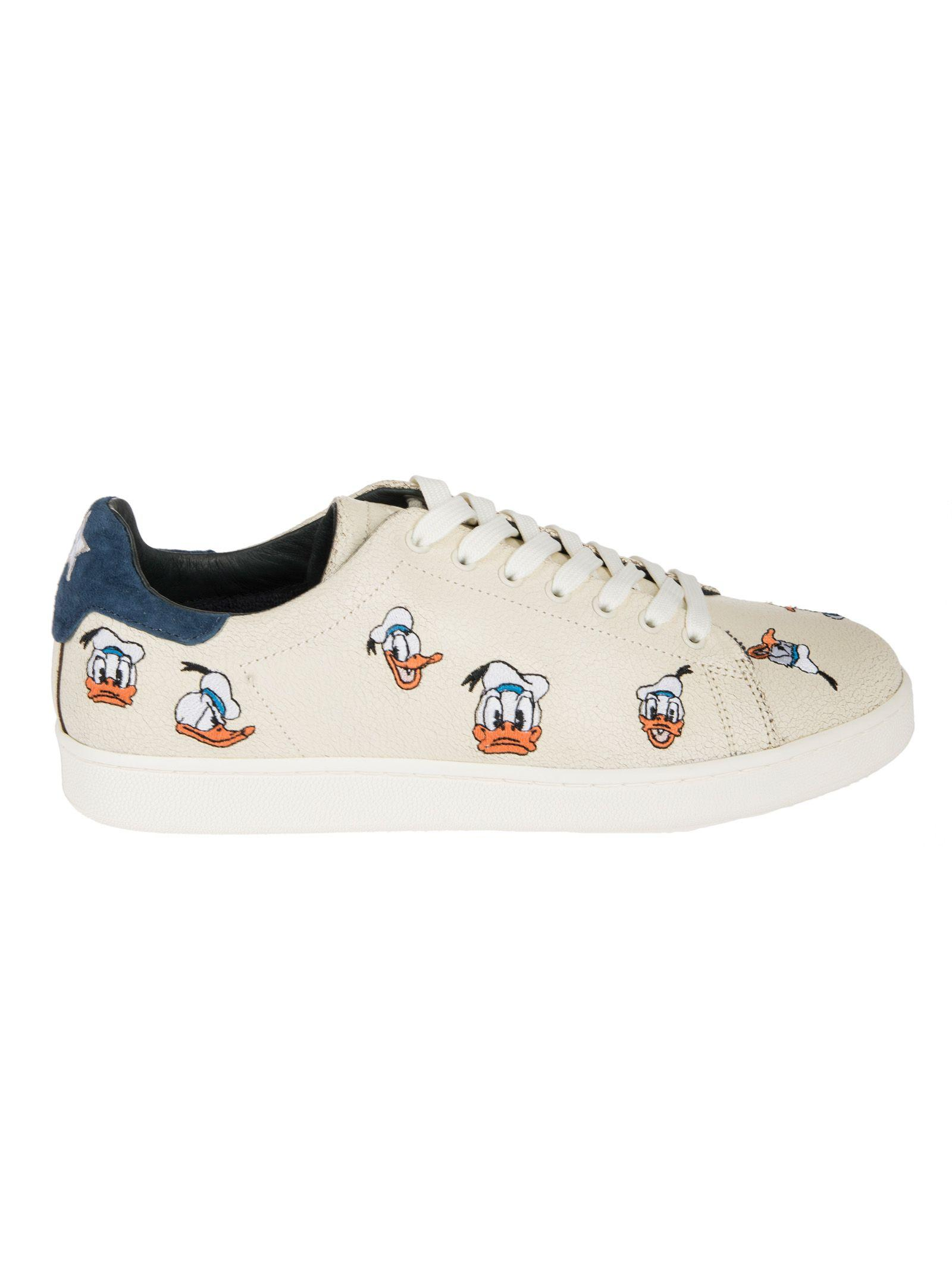 Moa Usa Moa Master Of Arts Donald Duck Print Sneakers In White