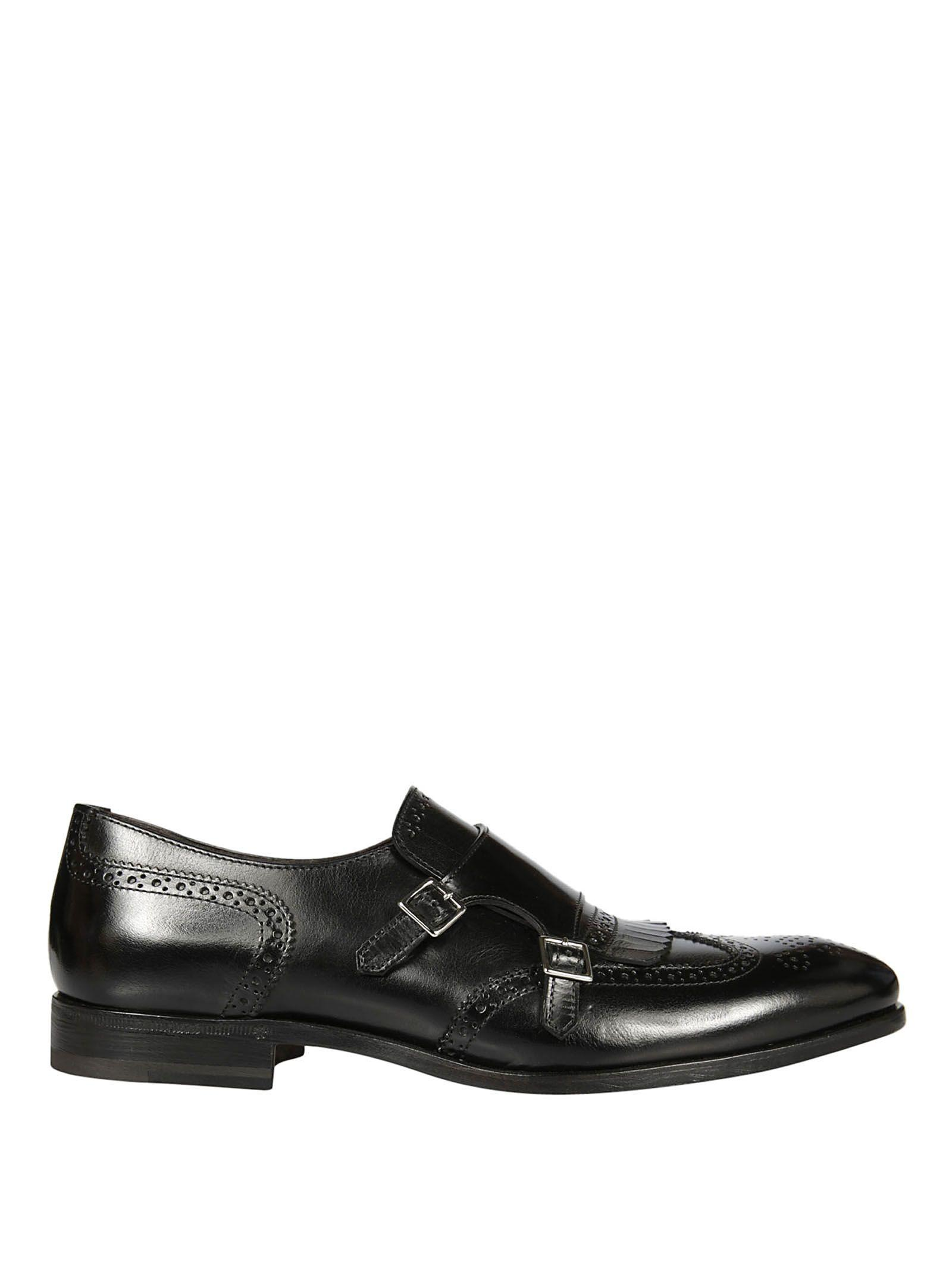 Henderson Monk-fringed Loafers In Black
