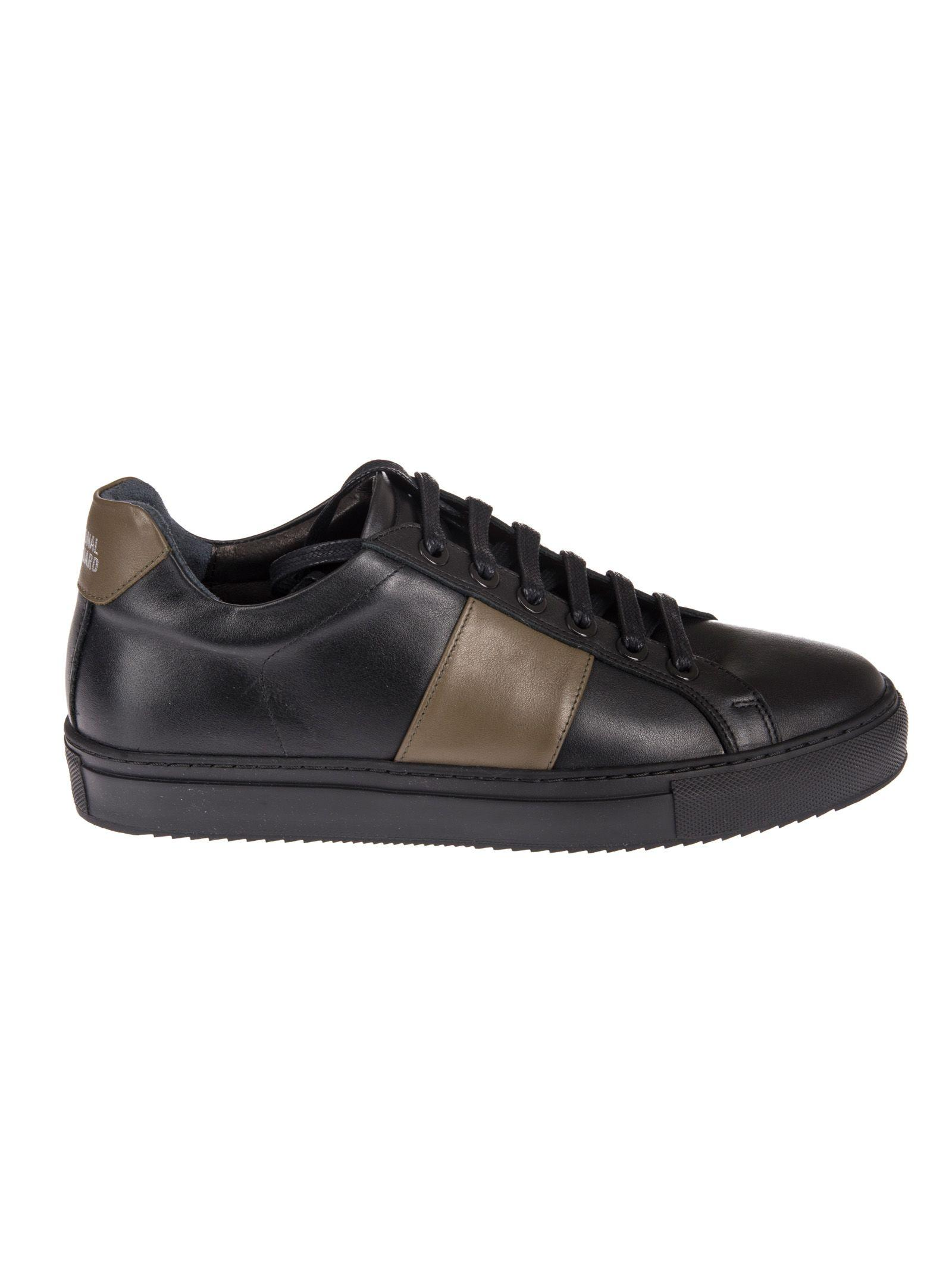 National Standard Contrast Detail Sneakers In Over Black
