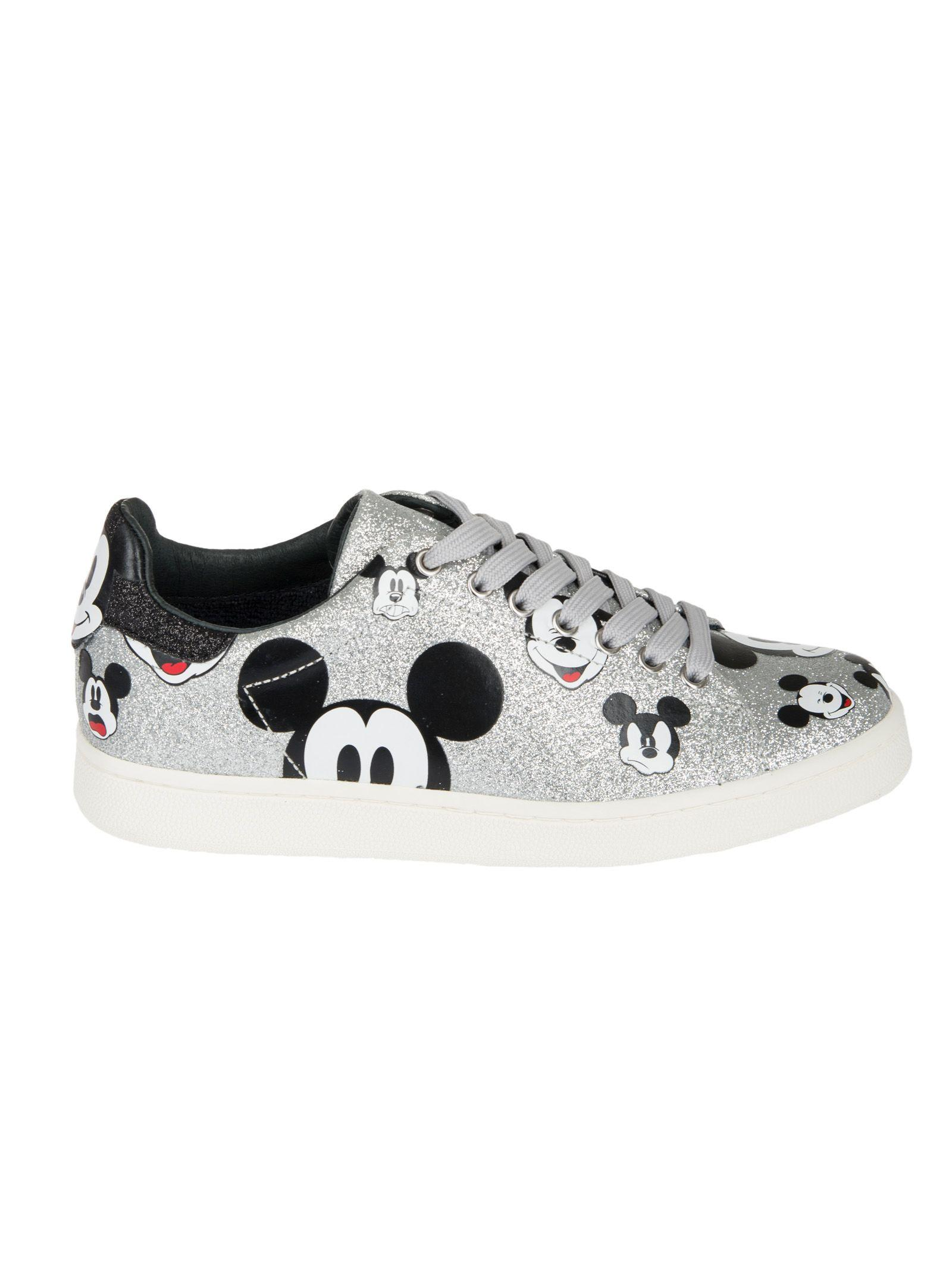 Moa Usa Moa Master Of Arts Micky Printed Sneakers In Silver