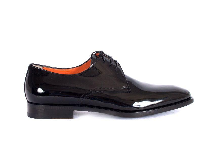 Santoni Lace-up Shoe In Black