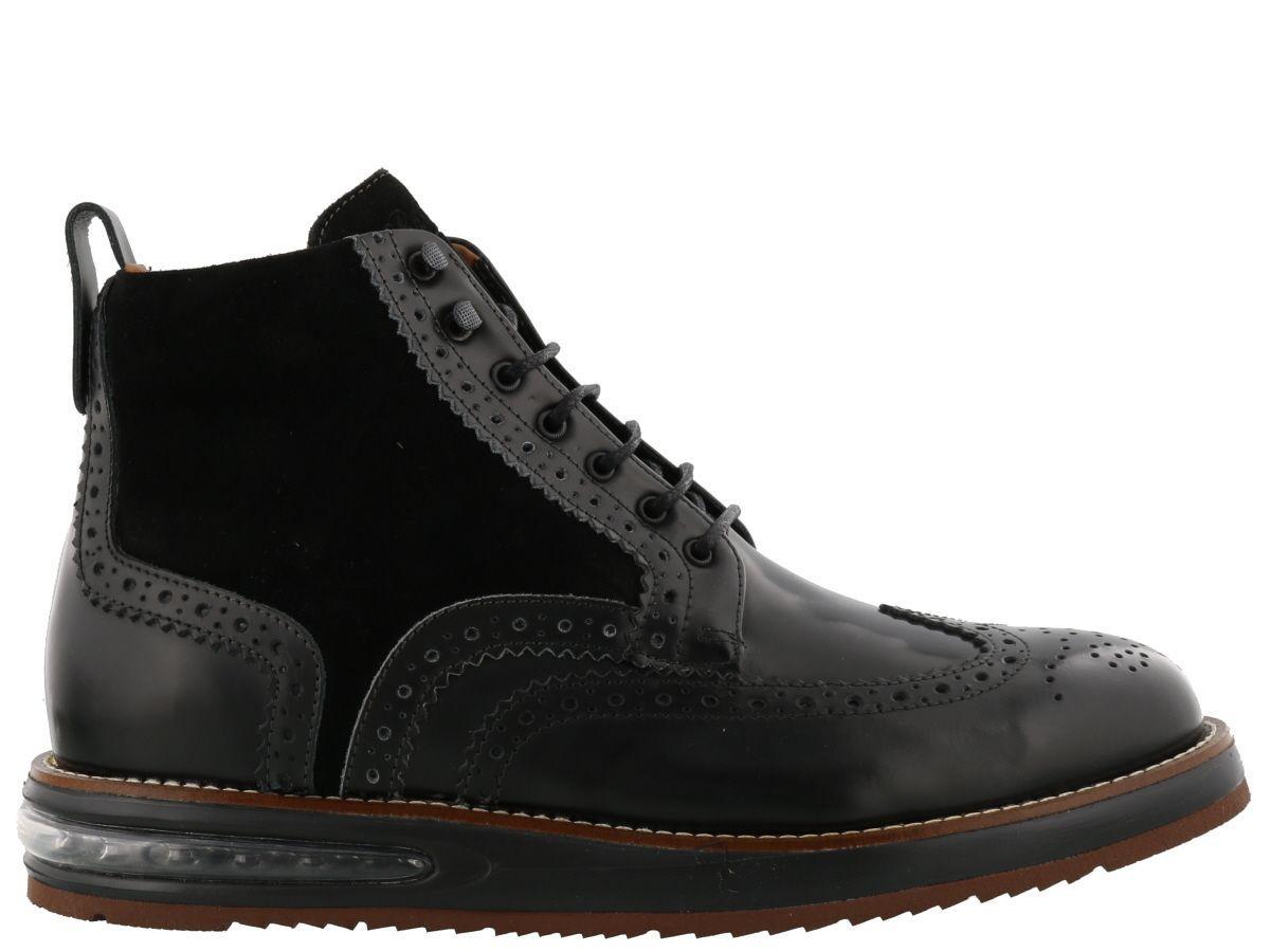 Barleycorn Air Brogue Boot In Black
