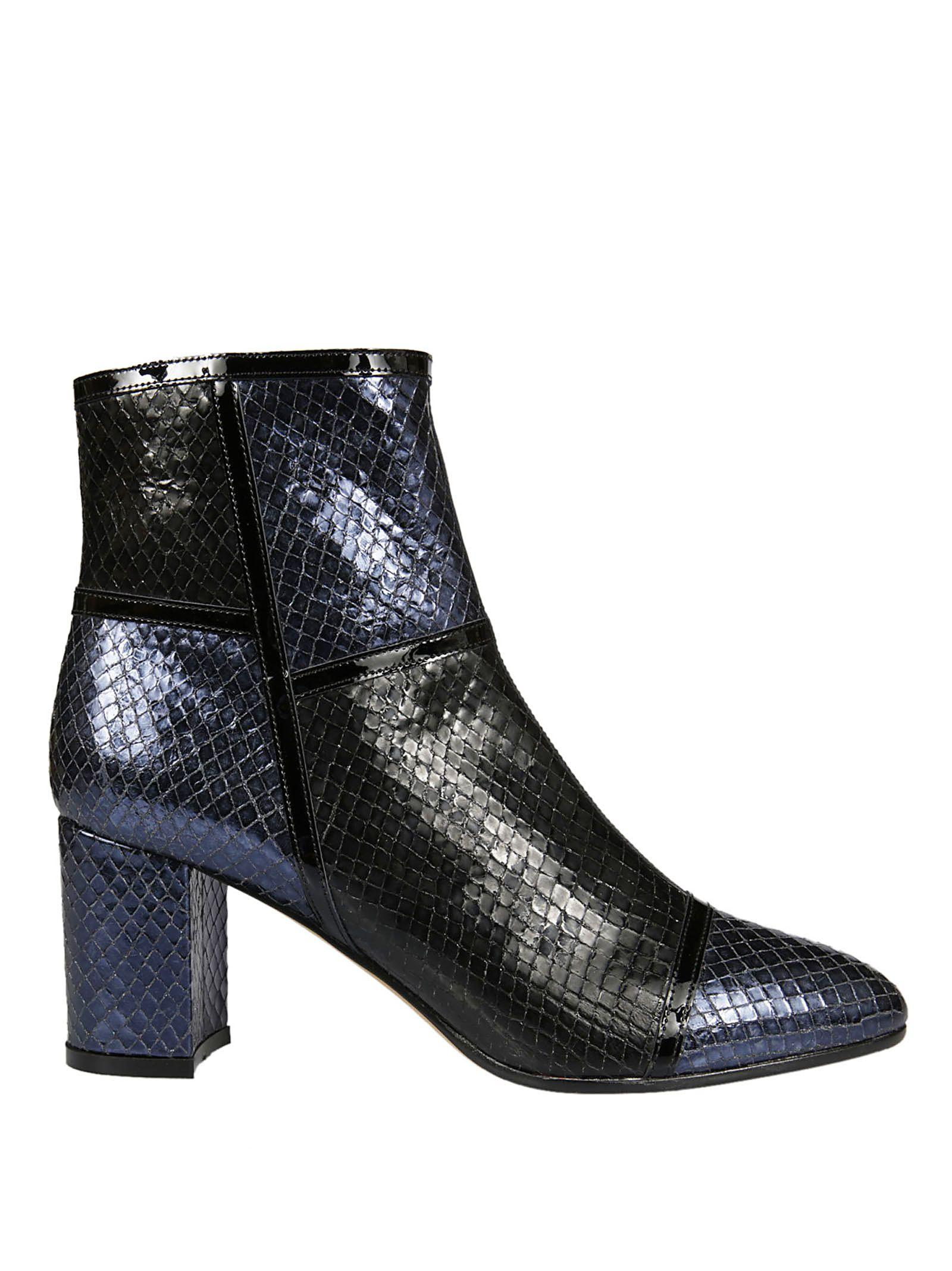 Jean-michel Cazabat Gail Boots In Blue-black