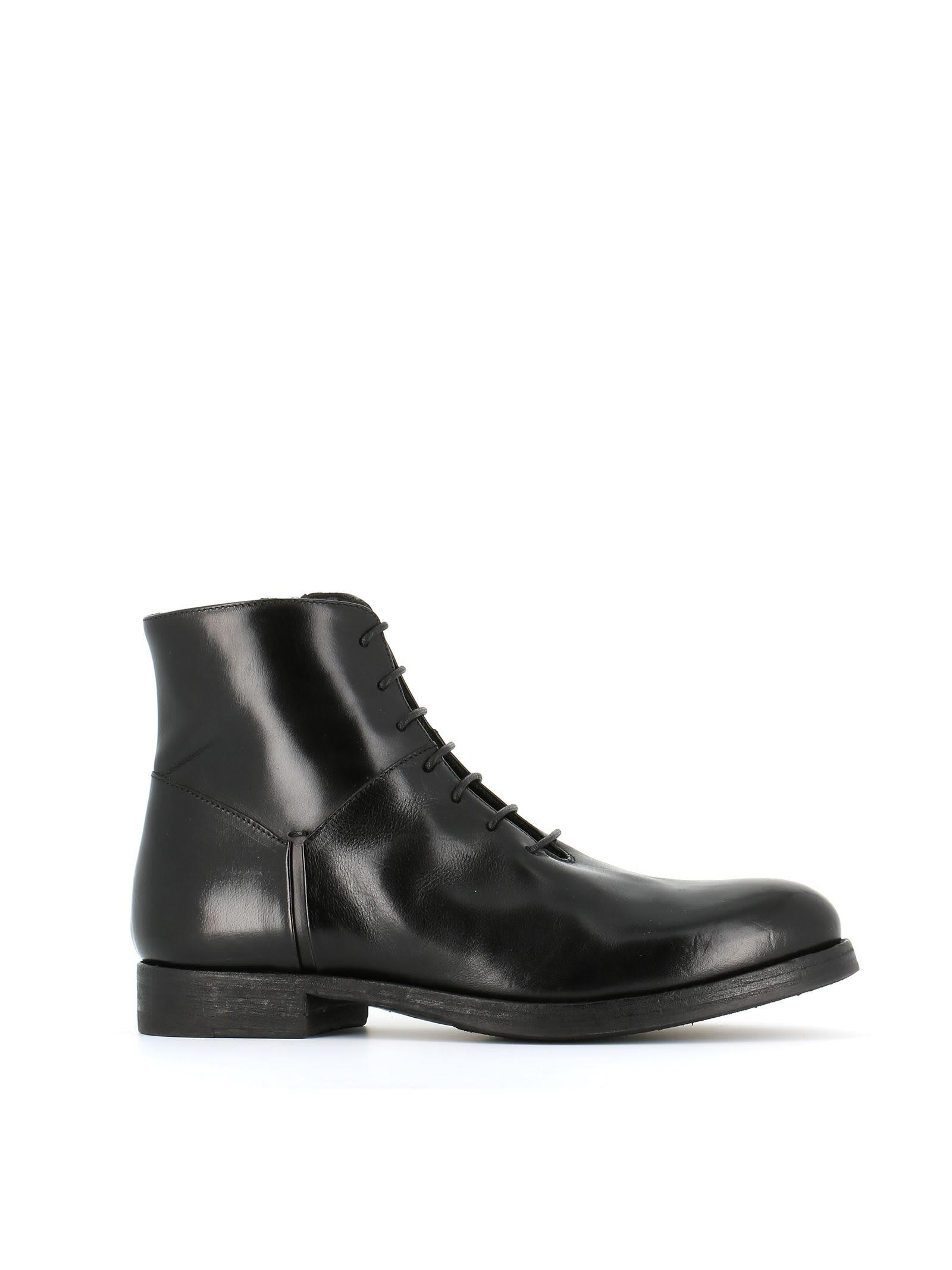 Pantanetti 10710d Lace-up Boots In Black