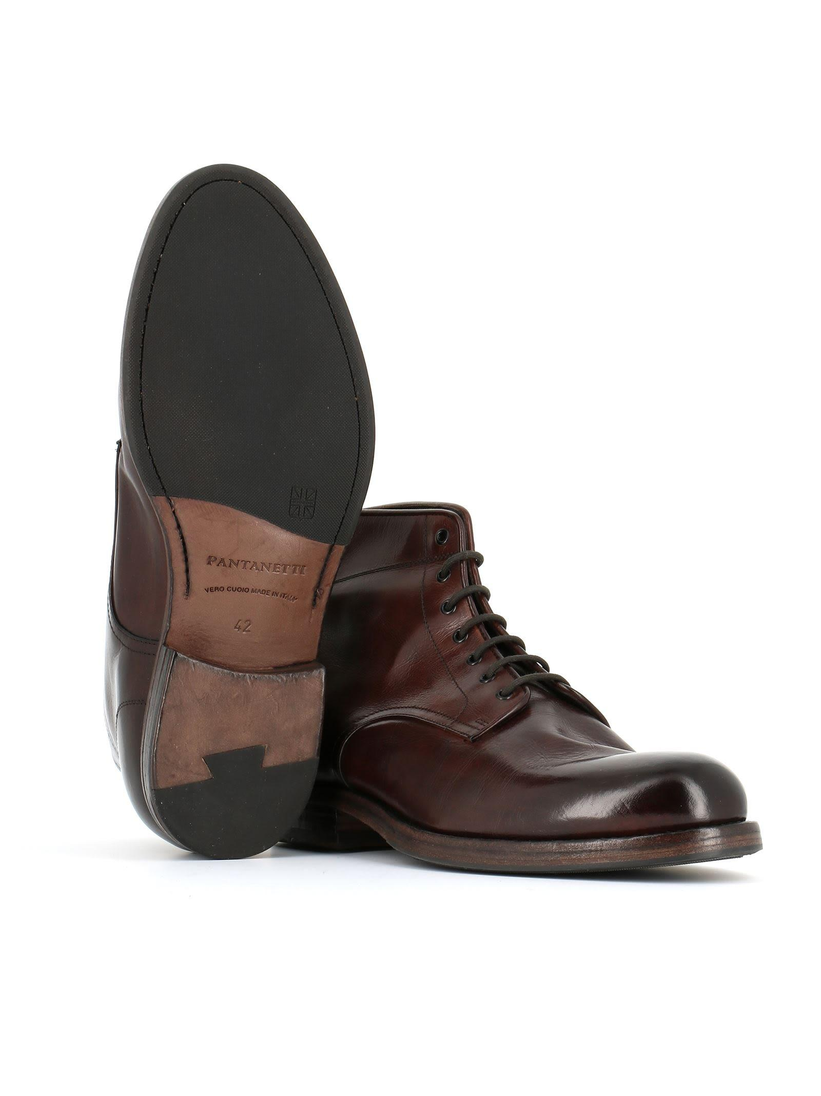 Pantanetti 10911d Lace-up Boots In Brown