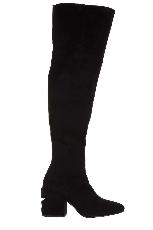 Marc Ellis Knee-length Suede Boots In Black