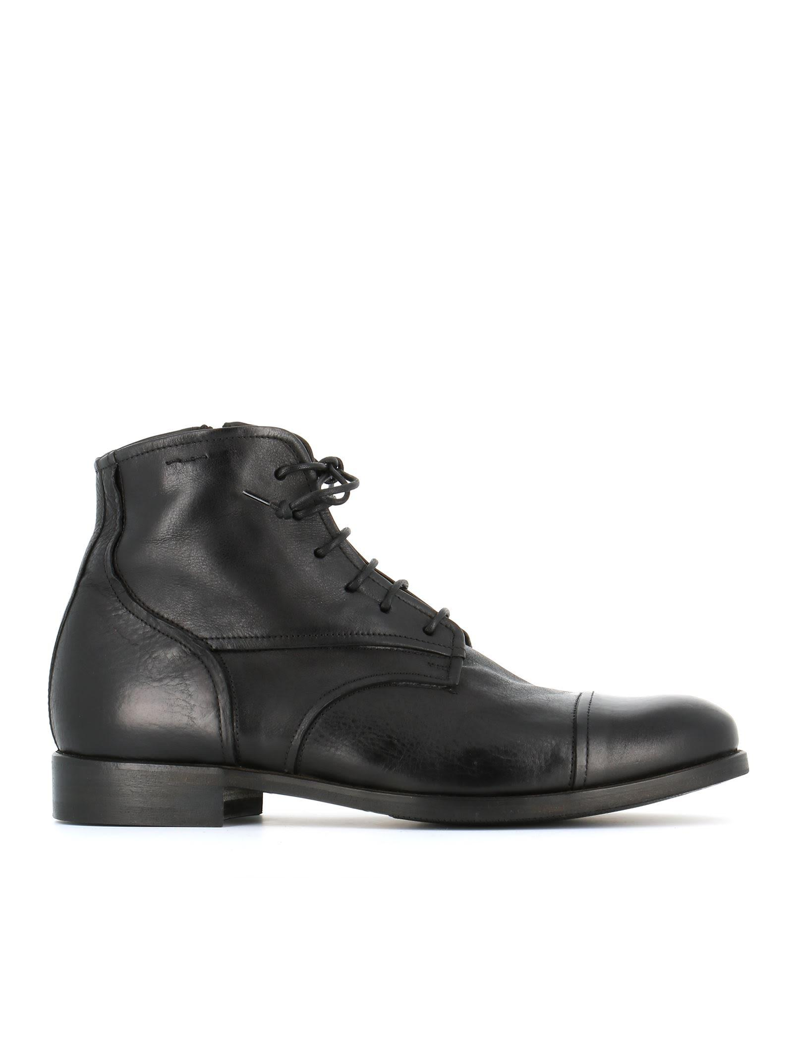 Alexander Hotto Lace-up Boots In Black