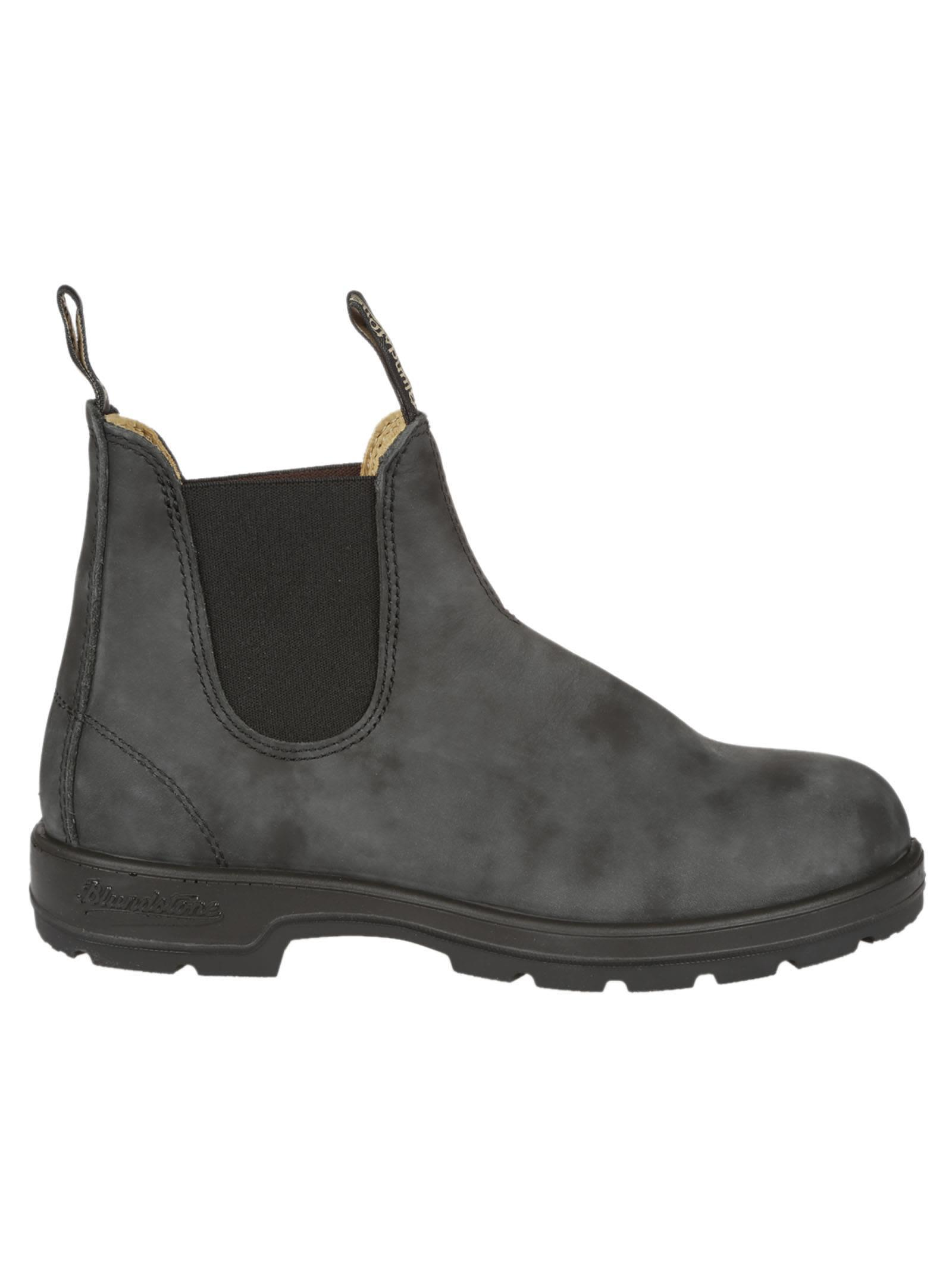 Blundstone Classic Ankle Boots In Rustic Black