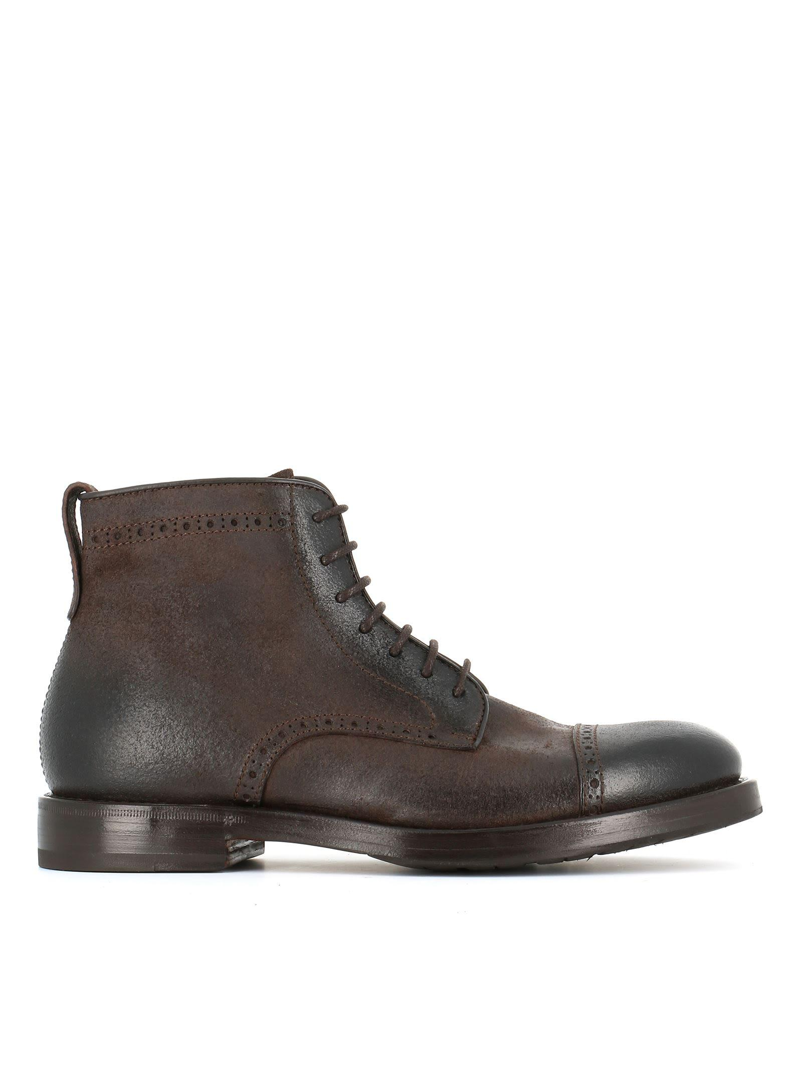 Henderson 57501 Lace-up Boots In Brown