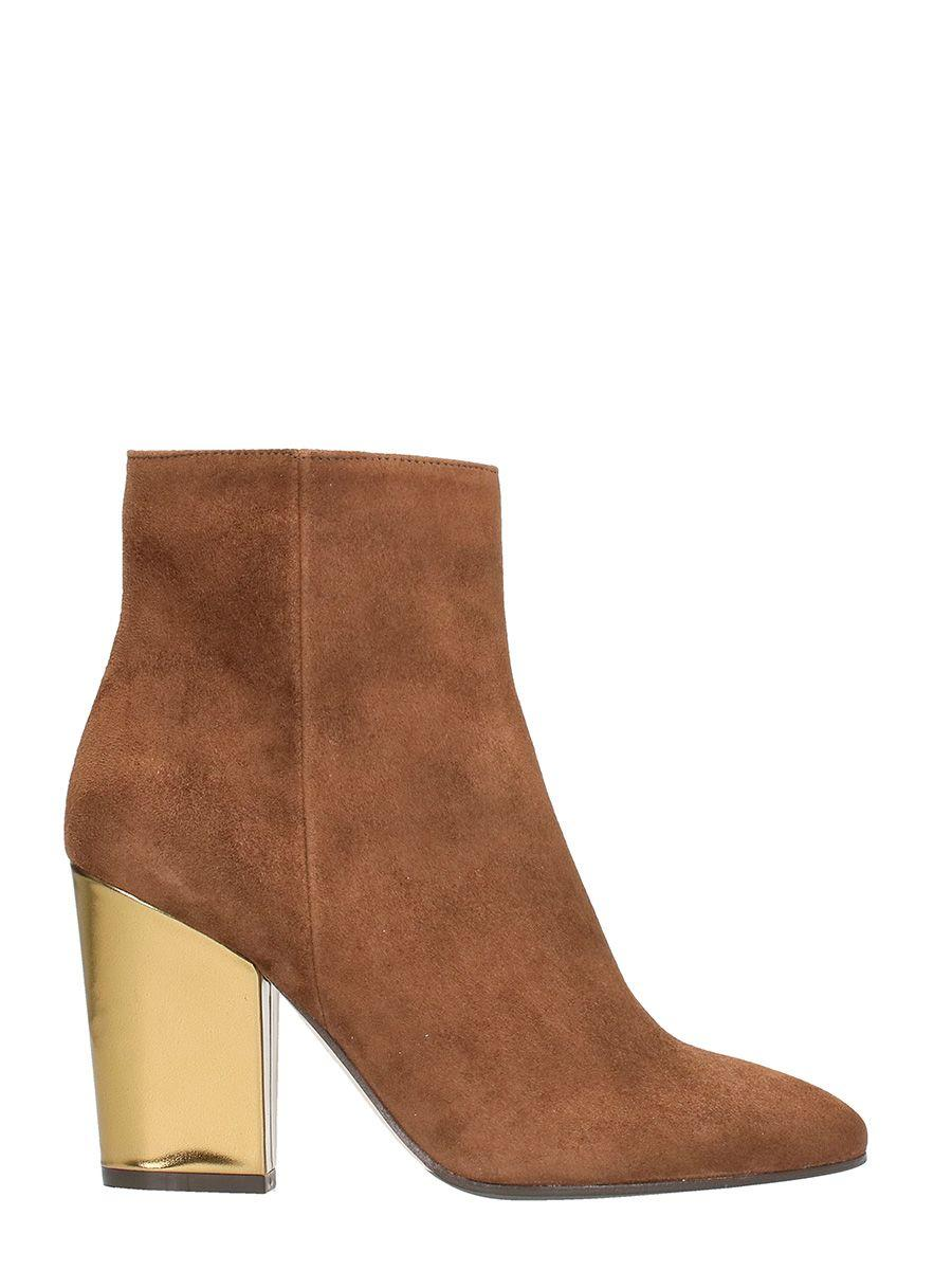 The Seller Brown Suede Bootie In Leather Color