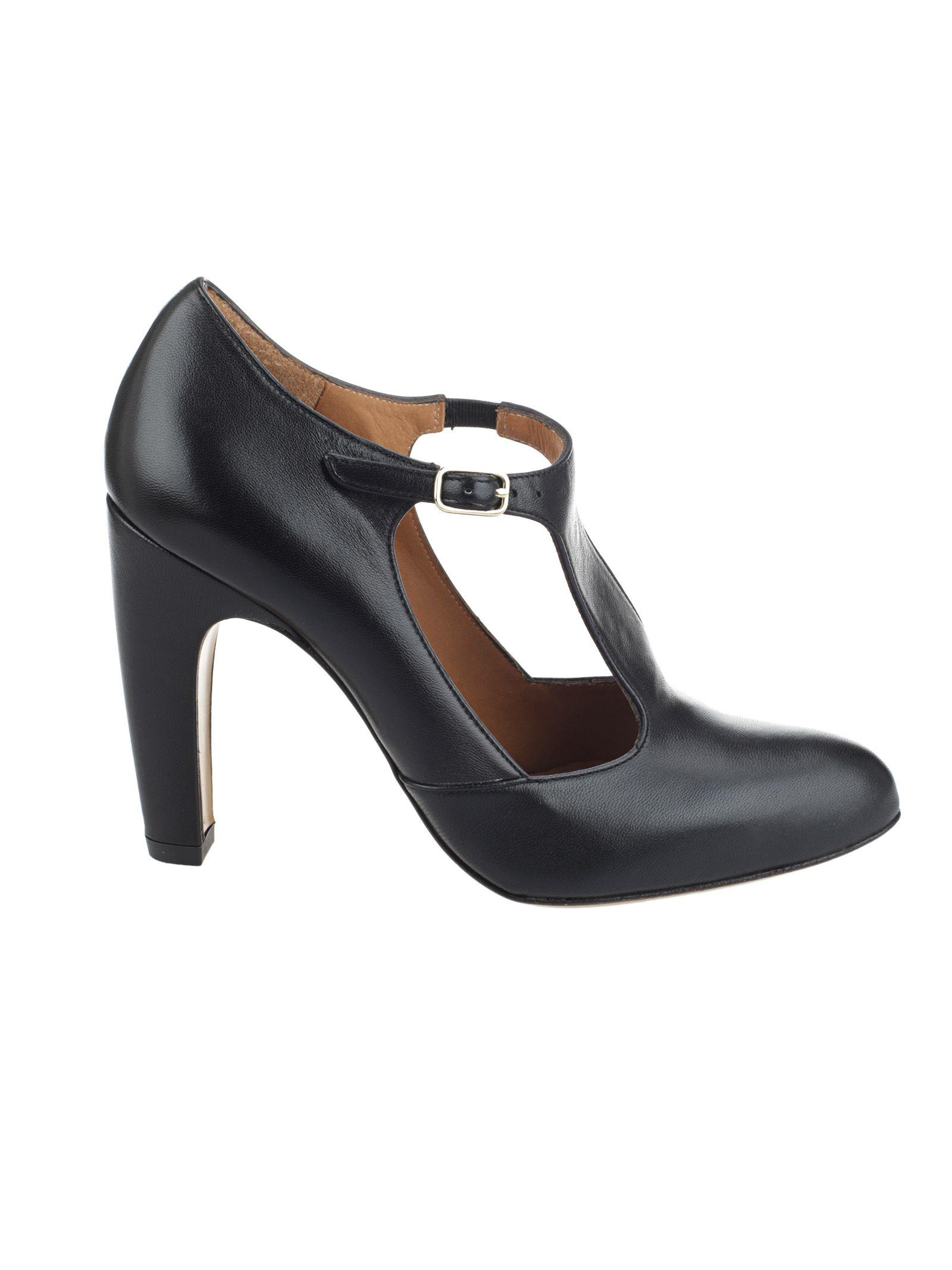 Chie Mihara Classic T-bar Pumps In Black