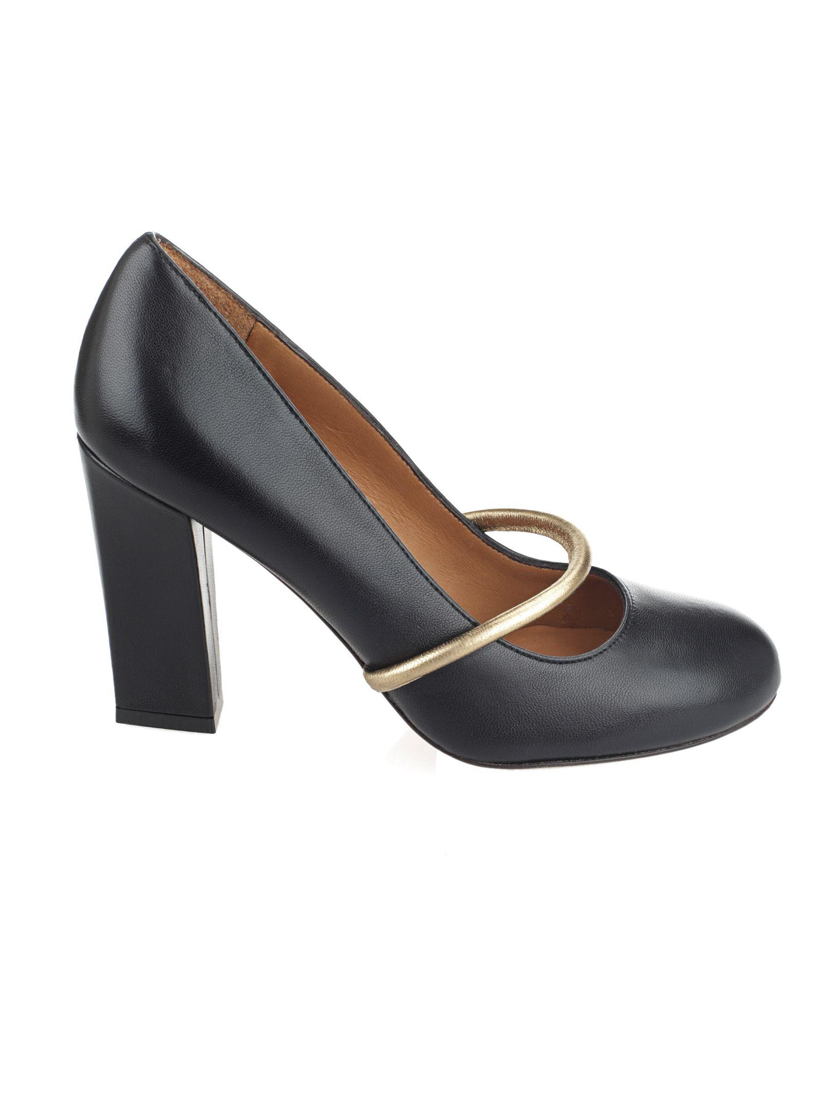 Chie Mihara Contrast Panel Pumps In Black