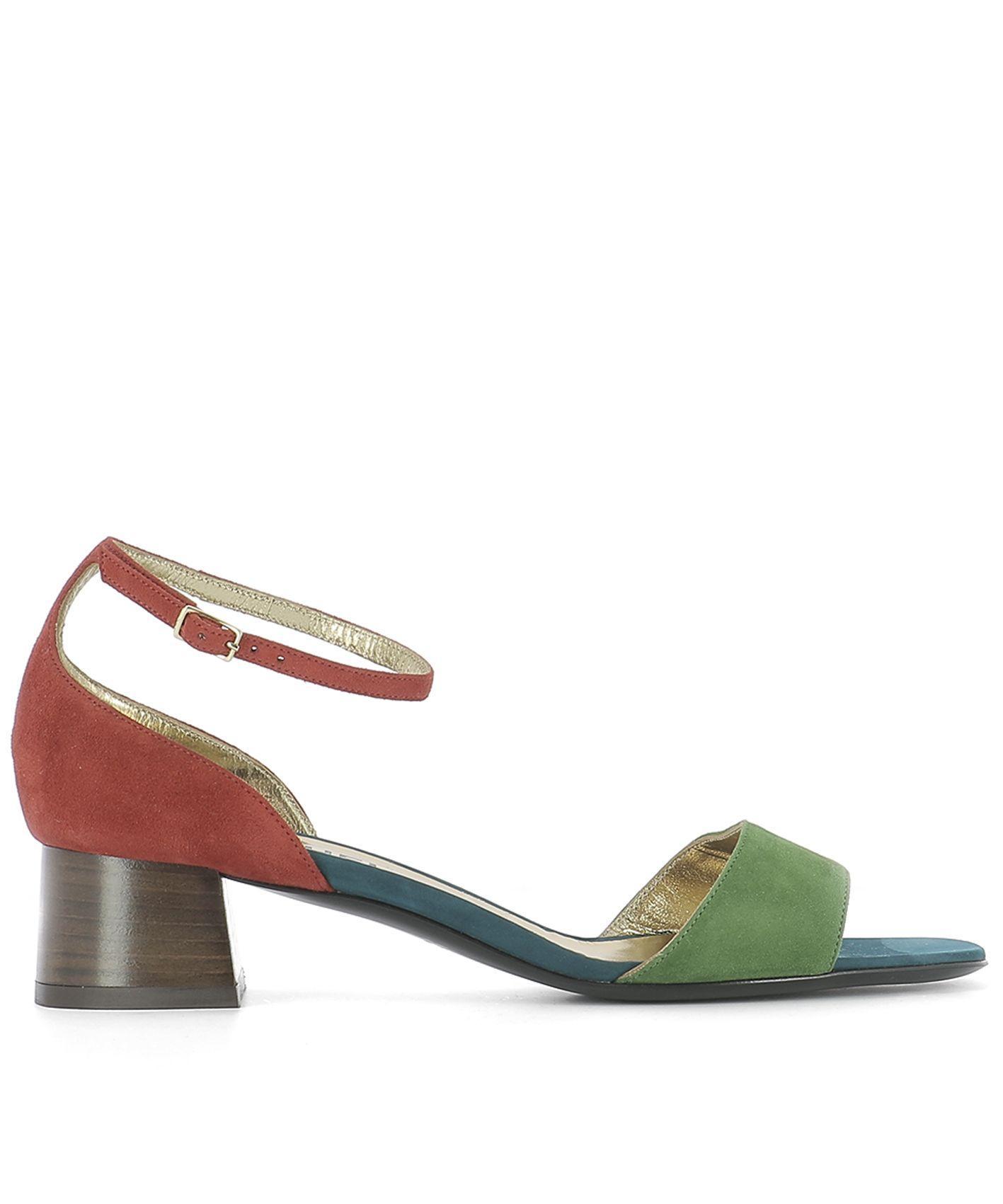 Michel Vivien Multicolor Suede Sandals