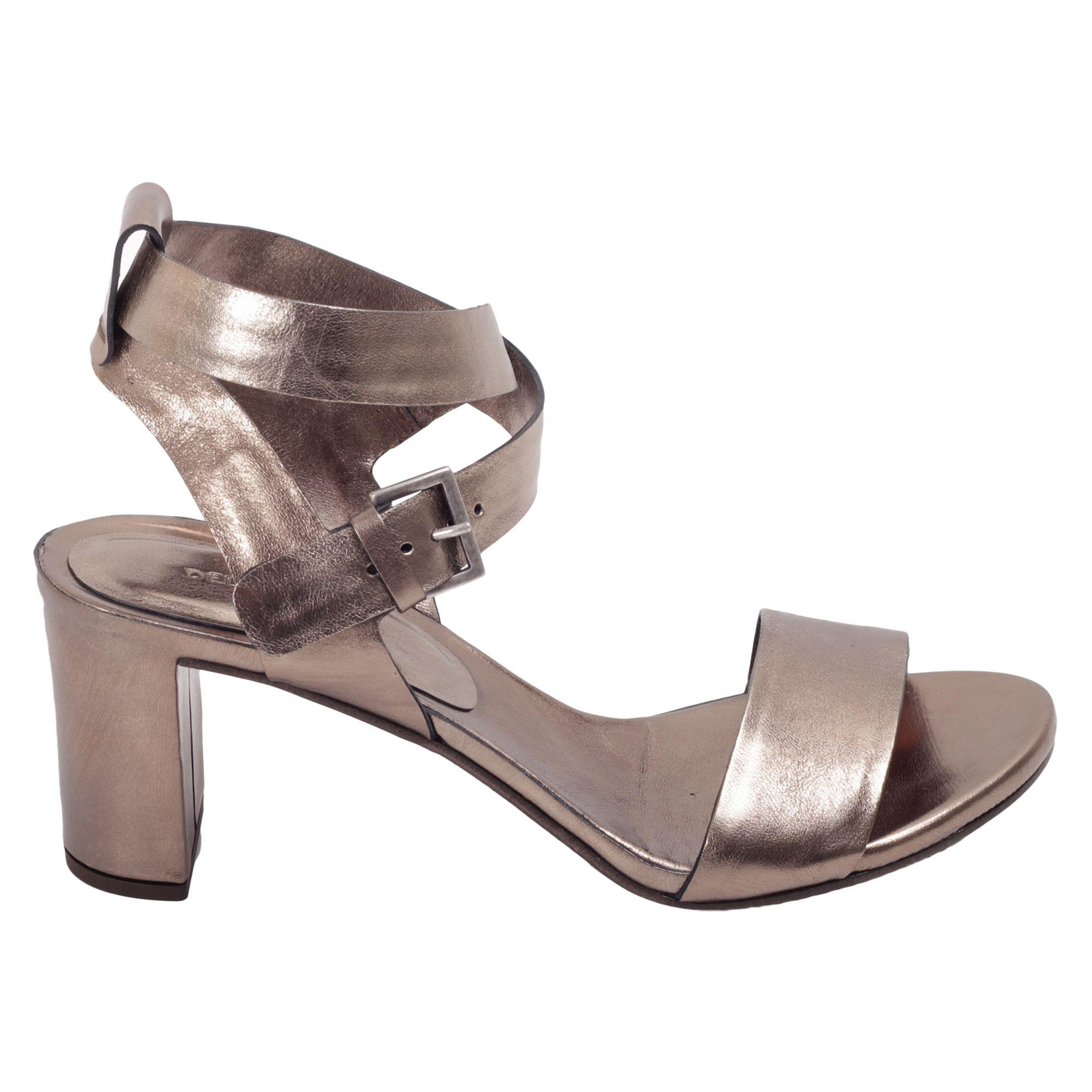 Roberto Del Carlo Leather Heeled Shoes In Bronze