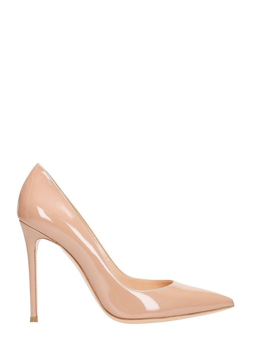 Lerre Skin Patent Leather Pumps In Powder