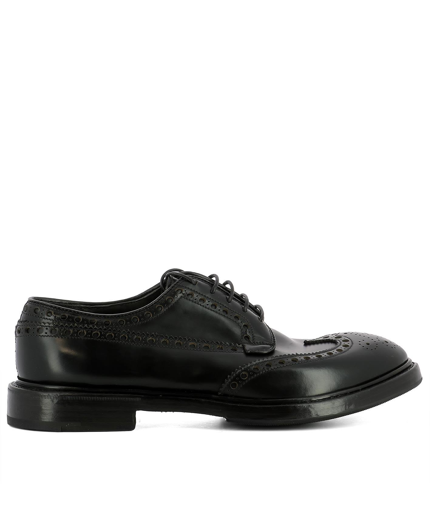 Premiata Men's Classic Leather Lace Up Laced Formal Shoes Boys Derby In Black