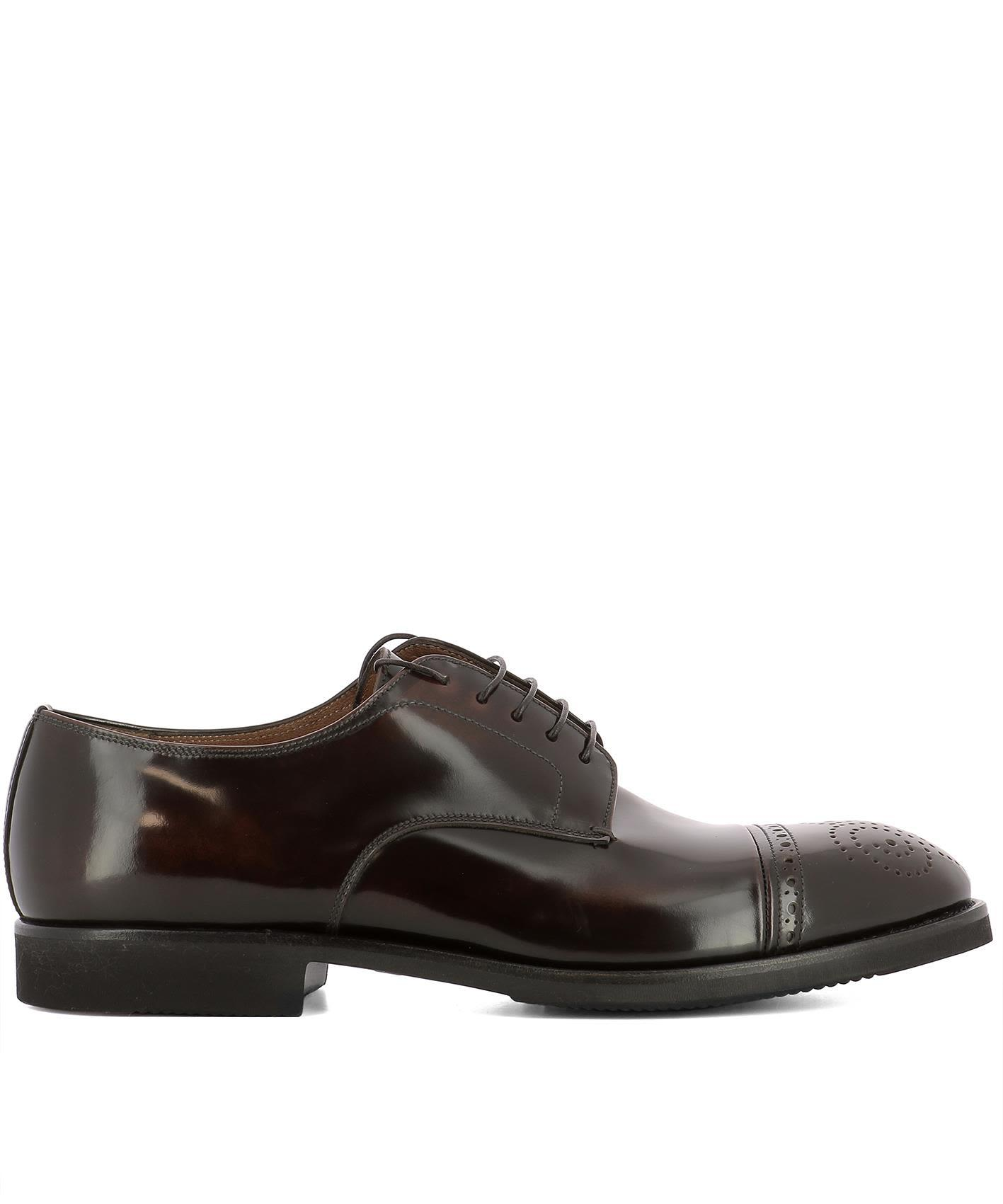 Premiata Brown Leather Lace-up