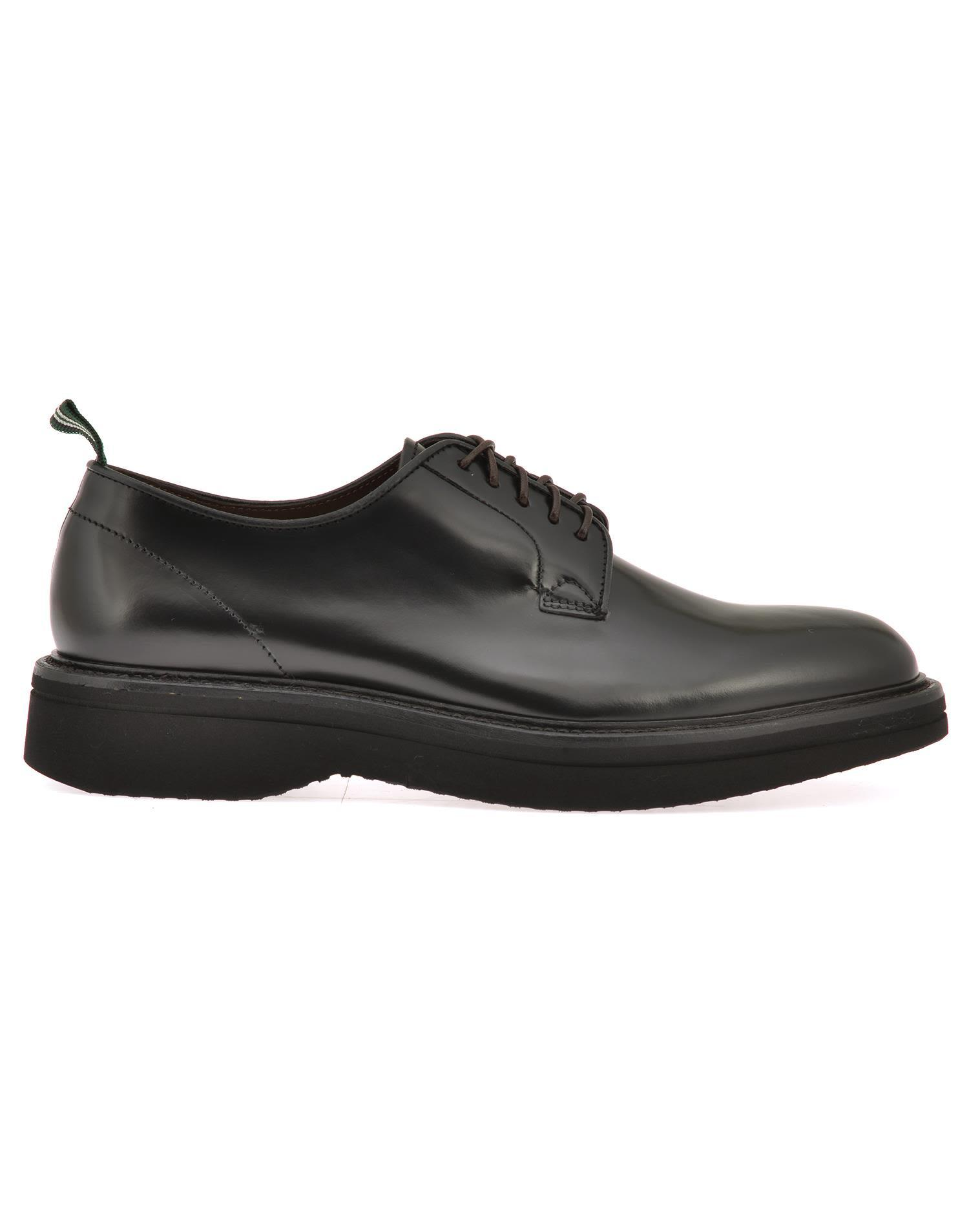 Green George Leather Lace-up Shoes In Black