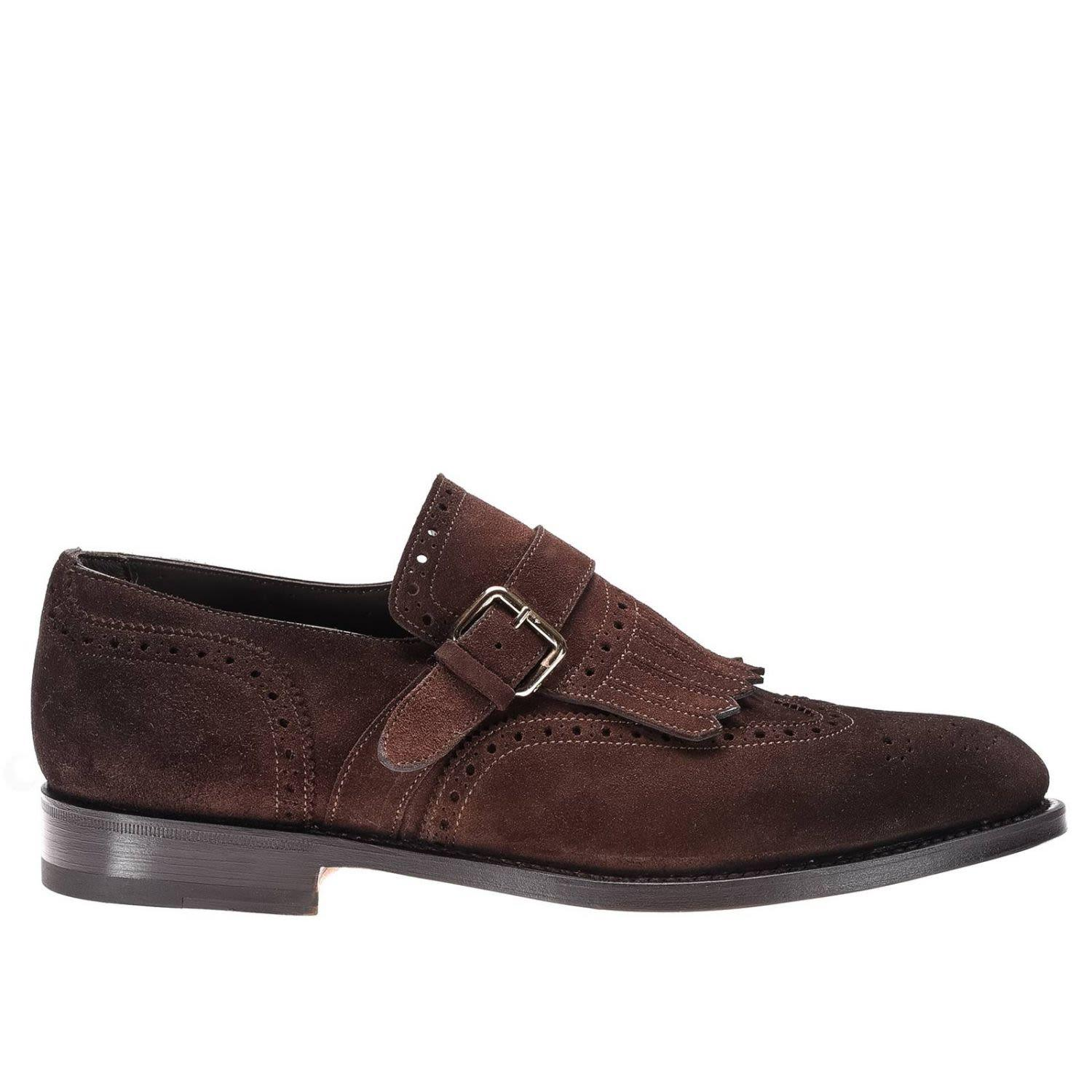 Santoni Brogue Shoes Shoes Men  In Burnt